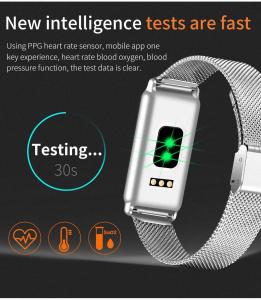 Bratara fitness MoreFIT™ Y8 , BT 4.0, Ritm Cardiac, Tensiune, Nivel Oxigen, Calorii, Pedometru, Monitorizare Somn, Notificari Apeluri si Mesaje, Anti-lost, Stand-by 15 zile, Android, iOS, Curea Otel I1