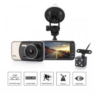 Camera auto DVR FreeWay™ A21, camera dubla, 1080p FullHD, G-senzor, lentile Sony , super night vision, suport prindere , 4 inch LCD, unghi de filmare 170 grade, inregistrare ciclica ( bucla , looping 0