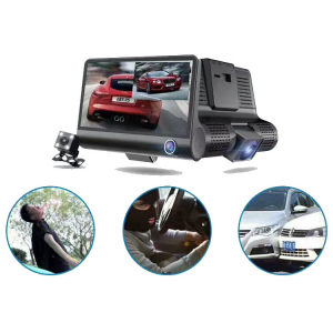 Camera auto DVR FreeWay™ C3, 3 Camere, 1080p 30Fps FullHD, G-senzor, lentile Sony , super night vision, suport prindere , 4 inch LCD, unghi de filmare 170 grade, inregistrare ciclica ( bucla , looping4