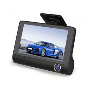 Camera auto DVR FreeWay™ C3, 3 Camere, 1080p 30Fps FullHD, G-senzor, lentile Sony , super night vision, suport prindere , 4 inch LCD, unghi de filmare 170 grade, inregistrare ciclica ( bucla , looping0