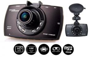 Camera auto DVR FreeWay™ G30, FullHD 1080p@30Fps, camera dubla, G-senzor, lentile Sony , super night vision, suport prindere, 2.7 inch LCD, unghi de filmare 120 grade, inregistrare ciclica ( bucla , l3