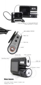 Camera auto DVR FreeWay™ I1000, camera dubla, FullHD1080p@25Fps,G-senzor, lentile Samsung, Super Night Vision, Suport prindere , 2 inch TFT, unghi de filmare 140 grade,Detectare miscare, inregistra [6]