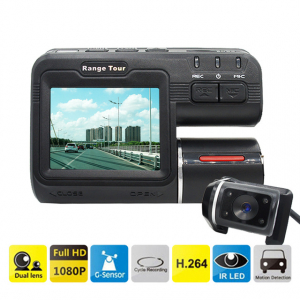 Camera auto DVR FreeWay™ I1000, camera dubla, FullHD1080p@25Fps,G-senzor, lentile Samsung, Super Night Vision, Suport prindere , 2 inch TFT, unghi de filmare 140 grade,Detectare miscare, inregistra [0]