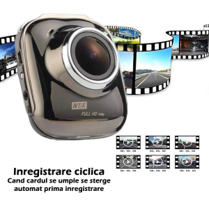 Camera Auto DVR FreeWay™ M008, FullHD 2MP 30fps, G-senzor, Lentile Sony, 2 inch LCD, Super Night Vision, Unghi De Filmare 170 Grade, Suport prindere, Detectare miscare, Inregistrare Ciclica ( bucla ,  [2]
