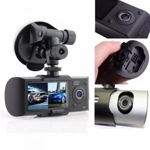 Camera auto DVR FreeWay™ R300, GPS, camera dubla, 720p@30fps HD, baterie incorporata, G-senzor, lentile Sony , super night vision, mod de noapte automat, 2.7 inch LCD, unghi de filmare 140 grade, inre1