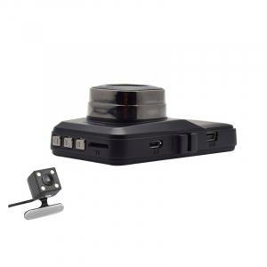 Camera auto DVR FreeWay™ T636, FullHD 1080p@25Fps, camera dubla, G-senzor, lentile Sony , super night vision, suport prindere, 3 inch LCD, unghi de filmare 170 grade, inregistrare ciclica ( bucla , lo [2]