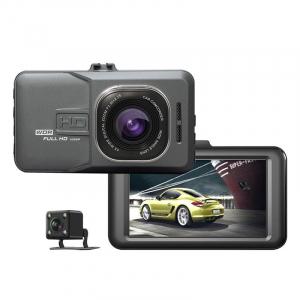 Camera auto DVR FreeWay™ T636, FullHD 1080p@25Fps, camera dubla, G-senzor, lentile Sony , super night vision, suport prindere, 3 inch LCD, unghi de filmare 170 grade, inregistrare ciclica ( bucla , lo [0]