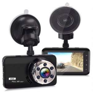 """Camera Auto DVR FreeWay™ T638, FullHD 1080p@30Fps, G-senzor, Lentile Sony, Super Night Vision, Suport prindere, Display 3"""" LCD, Unghi De Filmare 170 Grade, Detectare miscare, Inregistrare Ciclica ( bu3"""