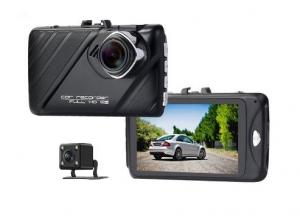 Camera auto DVR FreeWay™ T658, camera dubla, FullHD 1080p@30Fps, G-senzor, lentile Samsung, Super Night Vision, Suport prindere , 2 inch TFT, unghi de filmare 170 grade, Detectare miscare, inregistrar0