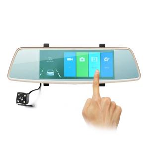 Camera Auto Oglinda Smart TouchScreen DVR FreeWay™ L1006, camera dubla, 2MP 1080p FullHD, G-senzor, lentile Sony , super night vision, suport prindere , 5 inch HD LCD, unghi de filmare 140 grade, inre [0]