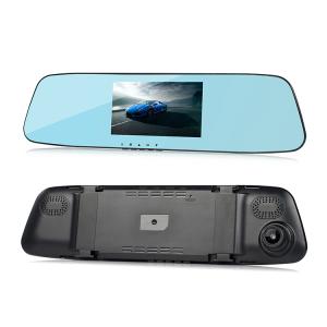 Camera Auto Oglinda TouchScreen DVR L505C, camera dubla, 1080p FullHD, G-senzor, suport prindere , 4.3 inch HD LCD, unghi de filmare 140 grade, inregistrare ciclica ( bucla ), negru5