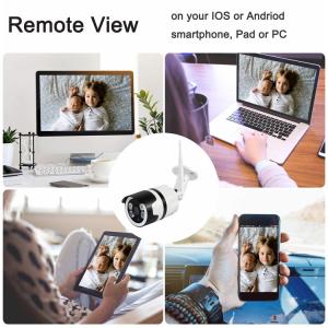 Camera de supraveghere IP WIFI BabyToy™ AG03 , Exterior , Conectare Telefon / PC, night vision color, rezistenta la apa, FullHD 1920*1080, camera 2.0 MP, senzor miscare, alb [1]
