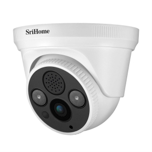 Camera de supraveghere IP WIFI Sricam™ SH030 Plus SriHome Interior, UltraHD 3MP 2048x1536, Conectare Telefon / PC , night vision , comunicare bidirectionala, senzor miscare, alb0