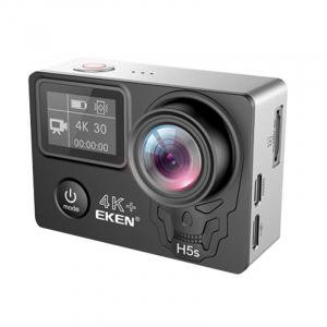 "Camera Video Sport Eken H5s+ 4k+ 12MP UHD 30fps EIS (stabilizator), Wi-Fi, 2"" LCD touch screen + dual dispaly , telecomanda, accesorii, carcasa waterproof 100feet, unghi de filmare 170 grade, ultra sl1"