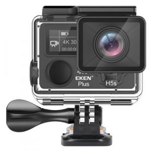 "Camera Video Sport Eken H5s+ 4k+ 12MP UHD 30fps EIS (stabilizator), Wi-Fi, 2"" LCD touch screen + dual dispaly , telecomanda, accesorii, carcasa waterproof 100feet, unghi de filmare 170 grade, ultra sl2"