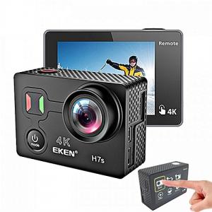 "Camera Video Sport Eken H7s Pro 4k+ 14MP UHD @30fps, Wi-Fi, Touch screen, 2""LCD Dual dispaly , telecomanda, accesorii, carcasa waterproof 30m , negru [2]"