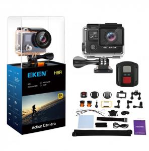 "Camera Video Sport Eken H8R Plus 4k+ 14MP UHD @30fps, Wi-Fi, 2""LCD Dual Dispaly , telecomanda, accesorii, carcasa waterproof 30m , negru1"