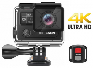 "Camera Video Sport Eken H8R Plus 4k+ 14MP UHD @30fps, Wi-Fi, 2""LCD Dual Dispaly , telecomanda, accesorii, carcasa waterproof 30m , negru0"