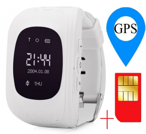 Ceas smartwatch cu GPS copii MoreFIT™ Q50 , functie telefon, monitorizare GPS in timp real , Wi-FI, buton SOS si monitorizare spion, alb +SIM prepay cadou1