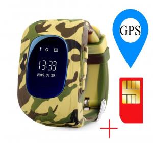 Ceas smartwatch cu GPS copii MoreFIT™ Q50 , functie telefon, monitorizare GPS in timp real , Wi-FI, buton SOS si monitorizare spion, galben camo +SIM prepay cadou [1]
