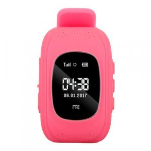 Ceas smartwatch cu GPS copii MoreFIT™ Q50 , functie telefon, monitorizare GPS in timp real , Wi-FI, buton SOS si monitorizare spion, roz +SIM prepay cadou [5]