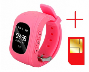 Ceas smartwatch cu GPS copii MoreFIT™ Q50 , functie telefon, monitorizare GPS in timp real , Wi-FI, buton SOS si monitorizare spion, roz +SIM prepay cadou [2]