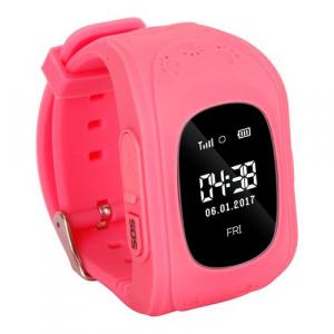 Ceas smartwatch cu GPS copii MoreFIT™ Q50 , functie telefon, monitorizare GPS in timp real , Wi-FI, buton SOS si monitorizare spion, roz +SIM prepay cadou [3]