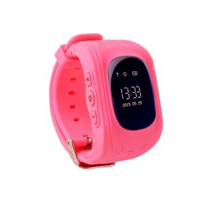 Ceas smartwatch cu GPS copii MoreFIT™ Q50 , functie telefon, monitorizare GPS in timp real , Wi-FI, buton SOS si monitorizare spion, roz +SIM prepay cadou [4]
