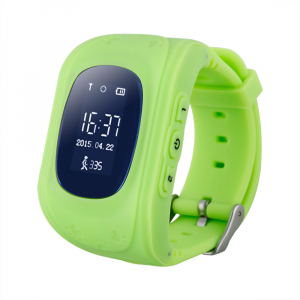 Ceas smartwatch cu GPS copii MoreFIT™ Q50, functie telefon, monitorizare GPS in timp real , Wi-FI, buton SOS si monitorizare spion, verde +SIM prepay cadou [0]