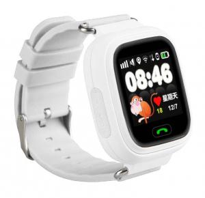 "Ceas smartwatch GPS copii MoreFIT™ GW100 Plus , cu GPS si functie telefon, Wi-Fi, ecran 1.22"" touchscreen, Bluetooth, tripla pozitionare, Buton SOS, vibratii, alb + SIM prepay cadou0"