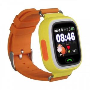 "Ceas smartwatch GPS copii MoreFIT™ GW100 Plus , cu GPS si functie telefon, Wi-Fi, ecran 1.22"" touchscreen, Bluetooth, tripla pozitionare, Buton SOS, vibratii, Galben + SIM prepay cadou4"