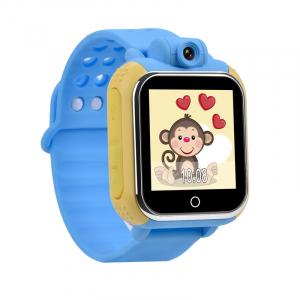 "Ceas smartwatch GPS copii MoreFIT™ GW1000 3G Pro , GPS, camera 2MP, Wi-FI si functie telefon, ecran touchscreen 1.54"", buton SOS, Albastru + SIM prepay cadou [3]"