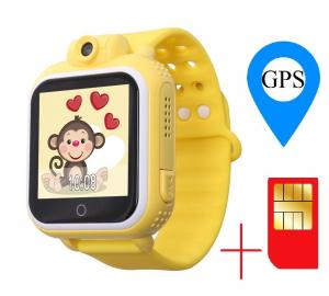 "Ceas smartwatch GPS copii MoreFIT™ GW1000 3G Pro , GPS, camera 2MP, Wi-FI si functie telefon, ecran touchscreen 1.54"", buton SOS, Galben +SIM prepay cadou [1]"