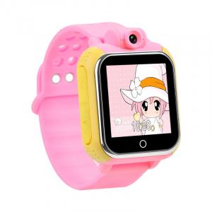 "Ceas smartwatch GPS copii MoreFIT™ GW1000 3G Pro , GPS, camera 2MP, Wi-FI si functie telefon, ecran touchscreen 1.54"", buton SOS, Roz + SIM prepay cadou0"