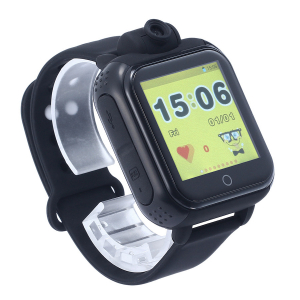 "Ceas smartwatch GPS copii MoreFIT™ GW1000x 3G Pro , GPS, camera 2MP, Wi-FI si functie telefon, ecran touchscreen 1.54"", buton SOS, Negru0"
