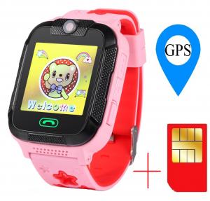 "Ceas smartwatch GPS copii MoreFIT™ GW2000 3G Pro, cu GPS si functie telefon, camera 2MP, WiFi, ecran touchscreen 1.54"", monitorizare spion si buton SOS, Roz + SIM prepay cadou [0]"
