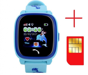 "Ceas smartwatch GPS copii MoreFIT™ GW400s Pro , cu GPS si functie telefon, Wi-Fi, rezistent la apa, ecran touchscreen 1.22"", monitorizare spion, buton SOS, albastru + SIM prepay cadou2"