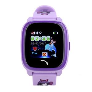 "Ceas smartwatch GPS copii MoreFIT™ GW400s Pro , cu GPS si functie telefon, Wi-Fi, rezistent la apa, ecran touchscreen 1.22"", monitorizare spion, buton SOS, lila + SIM prepay cadou0"