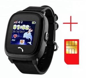 "Ceas smartwatch GPS copii MoreFIT™ GW400s Pro , cu GPS si functie telefon, Wi-Fi, rezistent la apa, ecran touchscreen 1.22"", monitorizare spion, buton SOS, negru + SIM prepay cadou [2]"