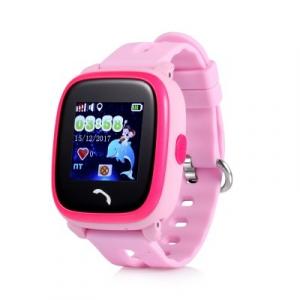 "Ceas smartwatch GPS copii MoreFIT™ GW400s Pro , cu GPS si functie telefon, Wi-Fi, rezistent la apa, ecran touchscreen 1.22"", monitorizare spion, buton SOS, roz +SIM prepay cadou [0]"