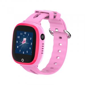 Ceas smartwatch GPS copii MoreFIT™ GW400x Pro , cu GPS si functie telefon, rezistent la apa, camera foto, buton SOS, roz + SIM prepay cadou [5]