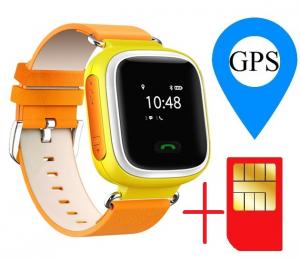 Ceas smartwatch GPS copii MoreFIT™ GW900s, cu GPS si functie telefon, monitorizare spion, pozitie GPS si LBS, buton SOS, Galben + SIM prepay cadou [1]