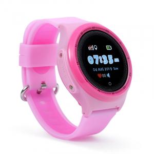 "Ceas smartwatch GPS copii MoreFIT™ KT06 , cu GPS si functie telefon, Wi-Fi, monitorizare spion,display touchscreen color 1.3"", rezistent la apa IP67, buton SOS, vibratii, roz + SIM prepay cadou2"
