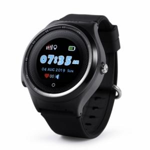 "Ceas smartwatch GPS copii MoreFIT™ KT06 , cu GPS si functie telefon, Wi-Fi, monitorizare spion,display touchscreen color 1.3"", rezistent la apa IP67, buton SOS, vibratii, negru + SIM prepay cadou [1]"