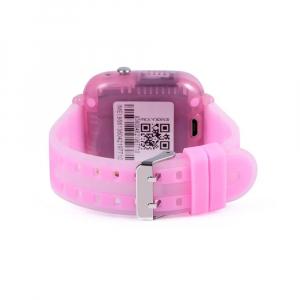 "Ceas smartwatch GPS copii MoreFIT™ KT07 , cu GPS si functie telefon, Wi-Fi, monitorizare spion,display touchscreen color 1.3"", rezistent la apa IP67, buton SOS, vibratii, roz [2]"
