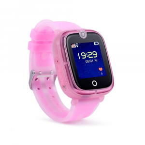 "Ceas smartwatch GPS copii MoreFIT™ KT07 , cu GPS si functie telefon, Wi-Fi, monitorizare spion,display touchscreen color 1.3"", rezistent la apa IP67, buton SOS, vibratii, roz [1]"