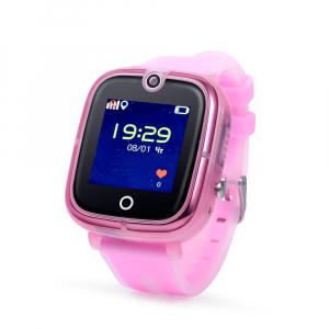 "Ceas smartwatch GPS copii MoreFIT™ KT07 , cu GPS si functie telefon, Wi-Fi, monitorizare spion,display touchscreen color 1.3"", rezistent la apa IP67, buton SOS, vibratii, roz [0]"