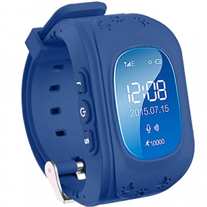 Ceas smartwatch GPS copii MoreFIT™ Q50, functie telefon, monitorizare GPS in timp real , Wi-FI, buton SOS si monitorizare spion, Bleumarin +SIM prepay cadou0