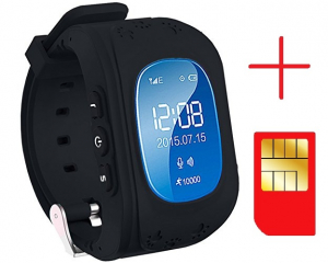 Ceas smartwatch GPS copii MoreFIT™ Q50, functie telefon, monitorizare GPS in timp real , Wi-FI, buton SOS si monitorizare spion, negru + SIM prepay cadou2