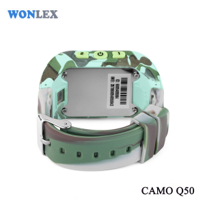 Ceas smartwatch GPS copii MoreFIT™ Q50, functie telefon, monitorizare GPS in timp real , Wi-FI, buton SOS si monitorizare spion, verde camo + SIM prepay cadou5